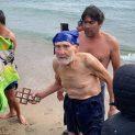93-годишен бивш летец хвана кръста на Йордановден по стар стил