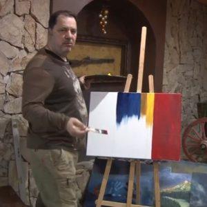 На финала на кампанията Георги Манев нарисува абстрактна политическа картина на България