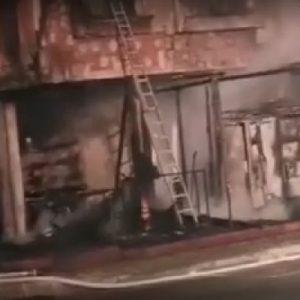 Пожар в неработещо заведение в Приморско, пострадала е жена