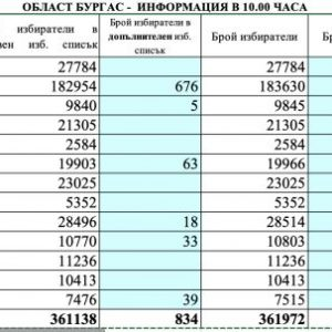 Ниска активност в Бургас до 10:00 часа, най-много гласуват в Приморско